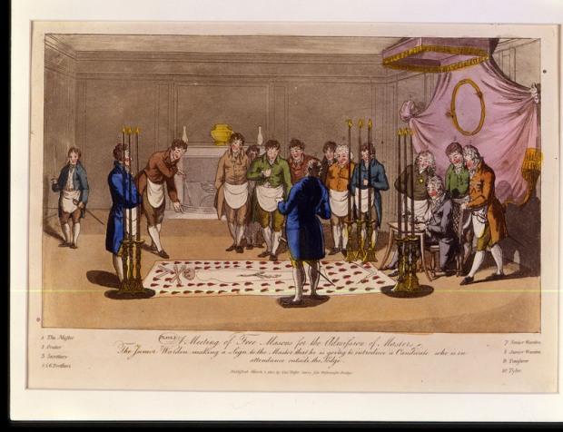 Immagine tratta da una mostra di materiali della Gran Loggia Massonica del Massachusett