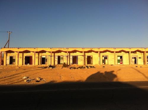 Villaggio libico abbandonato durante la guerra del 2011