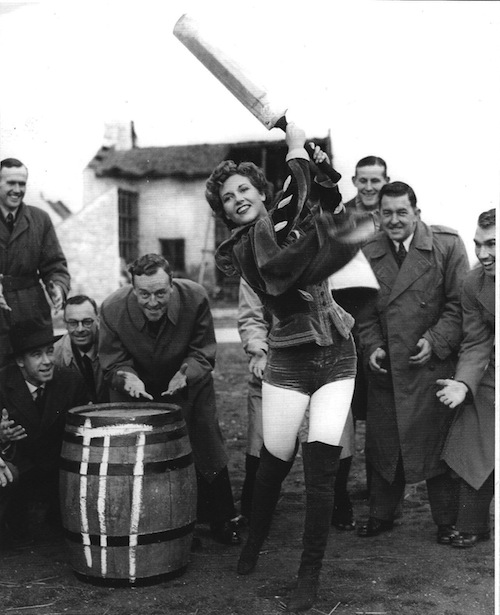 Women – making cricket sexy since 1949. Actress Rona Anderson entertains the touring New Zealanders (including Richard Hadlee's father, Walter, kneeling second left