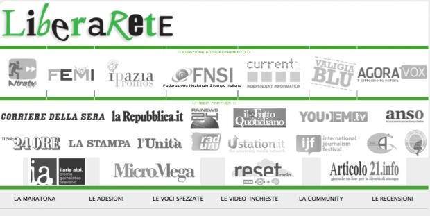 """Tutti i media partecipanti alla diretta web """"Liberarete"""""""