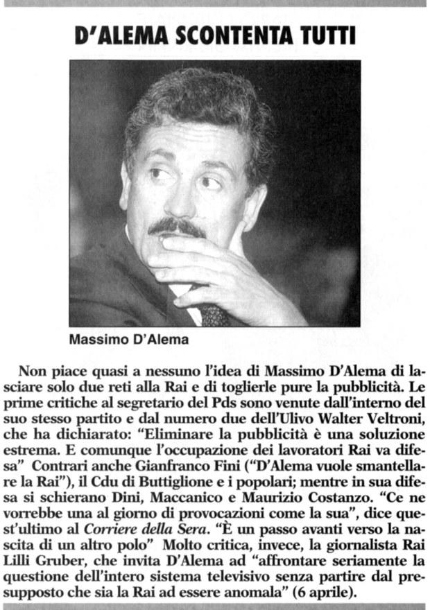 da: Prima Comunicazione - n.251 Aprile 1996