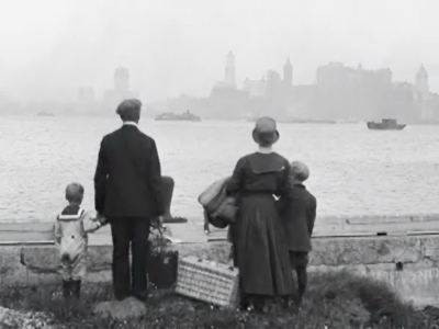 New York vista da Ellis Island