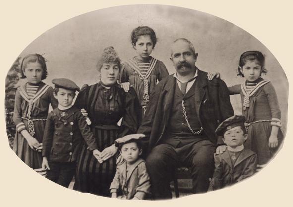 Famiglia ebrea - San Daniele nel Friuli - 1893