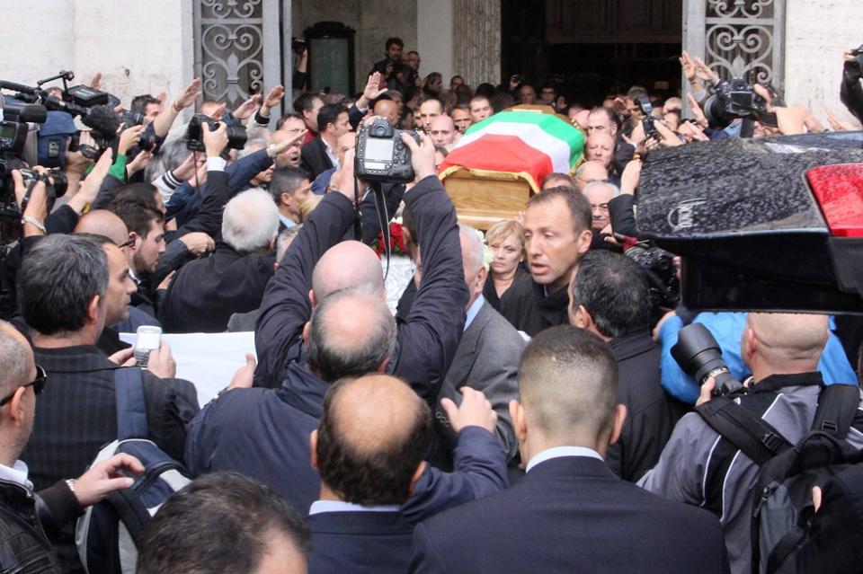 Roma, i funerali di Pino Rauti