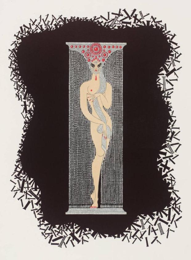 Number One 1968 by Erté (Romain de Tirtoff) 1892-1990