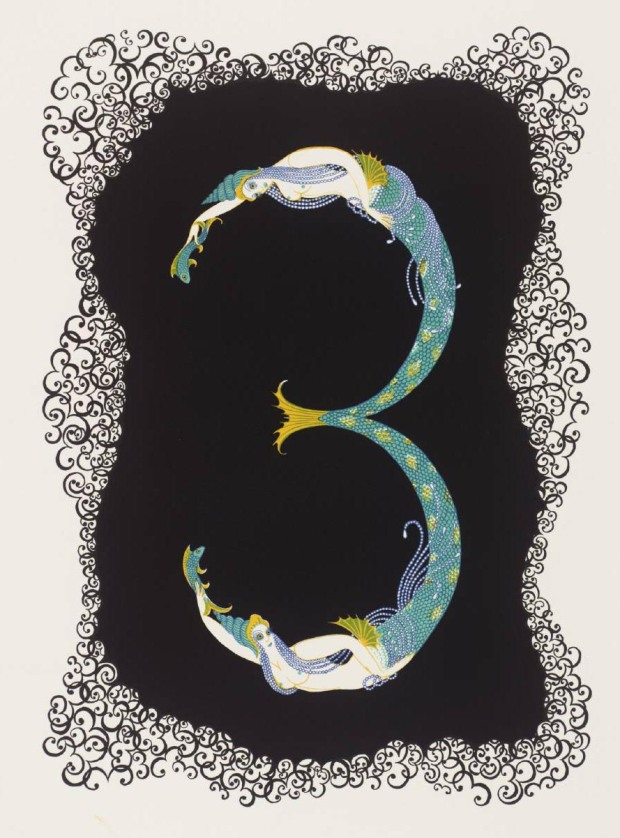 Number Three 1968 by Erté (Romain de Tirtoff) 1892-1990