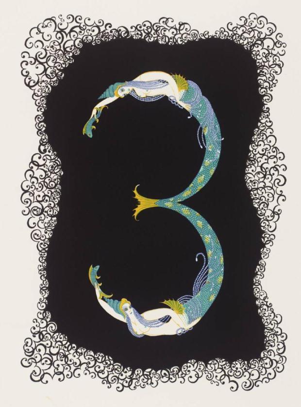 Number Three 1968 by Erté (Romain de Tirtoff) 1892-1990
