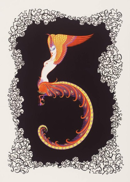 Number Five 1968 by Erté (Romain de Tirtoff) 1892-1990