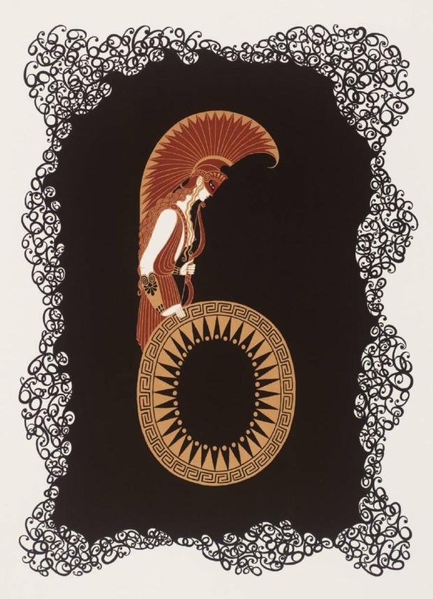 Number Six 1968 by Erté (Romain de Tirtoff) 1892-1990