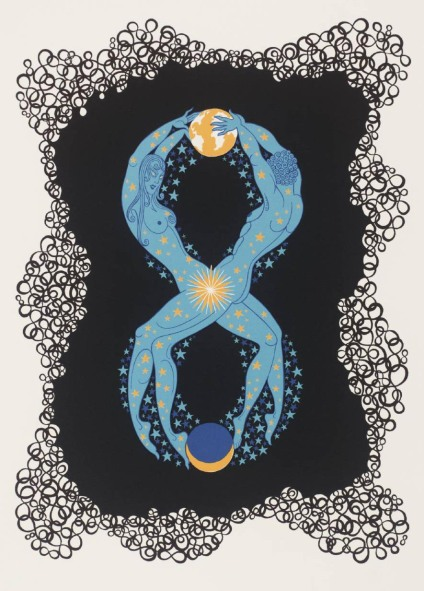 Number Eight 1968 by Erté (Romain de Tirtoff) 1892-1990