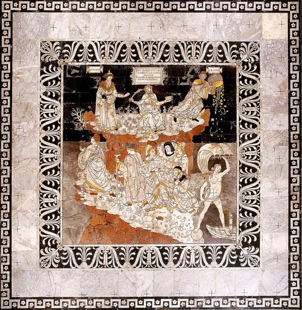Pinturicchio - Allegoria del Monte della Sapienza - Siena -Pavimento del Duomo