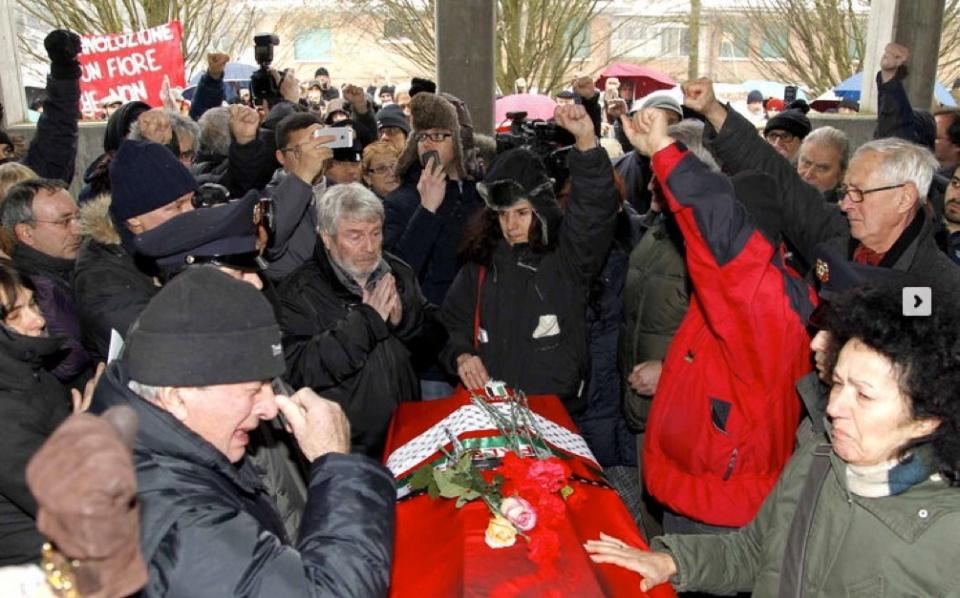 Reggio nell'Emilia, i funerali di Prospero Gallinari