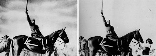 Mussolini cancella il libico