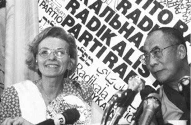 Emma Bonino e il Dalai Lama