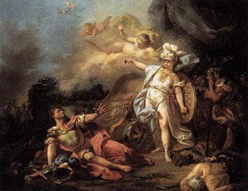 La battaglia tra Ares e Athena