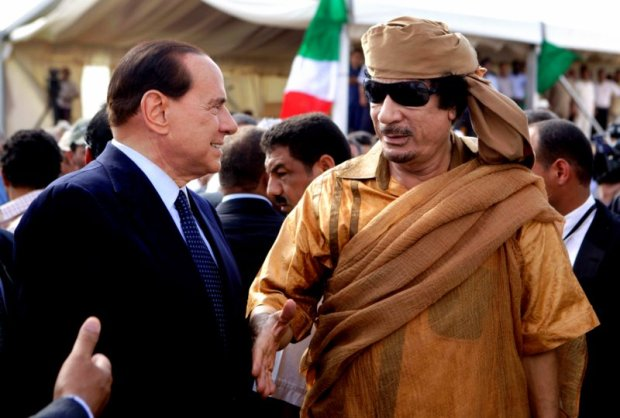 Silvio Berlusconi, Moammar Gadhafi