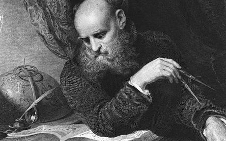 Galileo At Work...Italian astronomer, mathematician and natural philosopher Galileo Galilei, (1564 - 1642), known as Galileo.