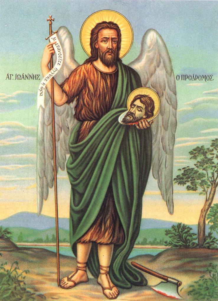 Oggi è il 24 giugno, festa di san Giovanni Battista, unico santo della Chiesa di cui si festeggia la nascita  e non la morte