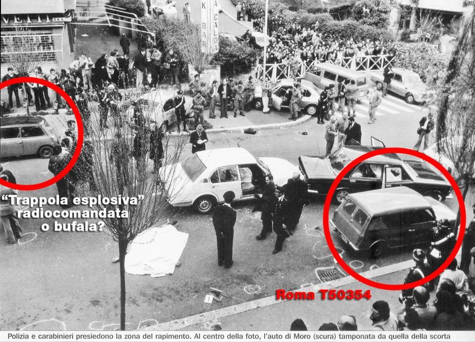 Secondo Stefania Limiti (e non solo), in via Fani, durante il rapimento Moro, era parcheggiata un'autovettura (targa Rm T50354) in dotazione dei servizi segreti.