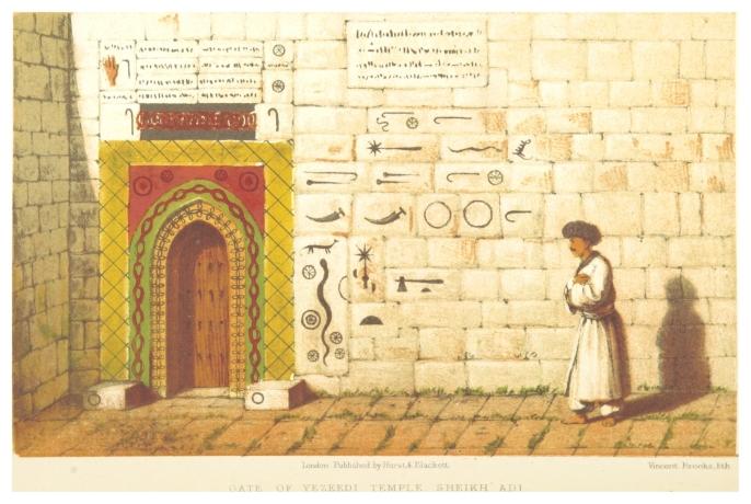 USSHER(1865)_p454_GATE_OF_YEZEEDI_TEMPLE_SHEIKH_ADI