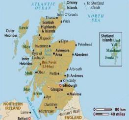 Scozia cartina definitiva di Scozia