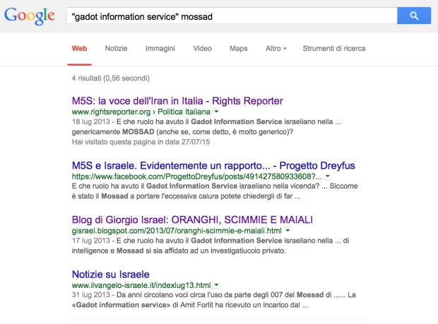 Gadot Information Service, il soprannome che i servizi iraniani danno al Mossad, secondo Rights Reporter...