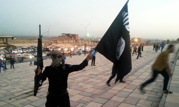 Isis fighter in Mosul, Iraq