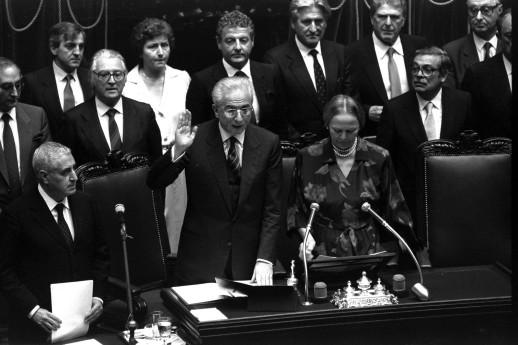 3 Luglio 1985 Il giuramento di Francesco Cossiga da neoeletto Presidente della Repubblica