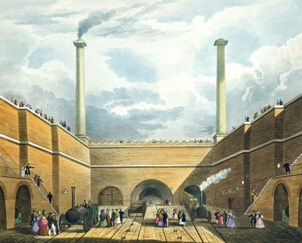 Entrance_of_the_Railway_at_Edge_Hill,_from_Bury's_Liverpool_and_Manchester_Railway,_1831_-_artfinder_122456