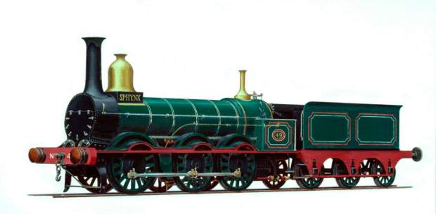 Whitcombe, Henry Maurice, 1900-1984; Manchester, Sheffield and Lincolnshire Railway 0-6-0 Goods Engine No.49 'Sphynx'