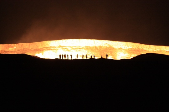 Darvaza gas crater, the gates of hell