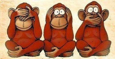 tre scimiette