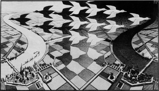 Figure-2-Day-and-Night-1938-M-C-Escher