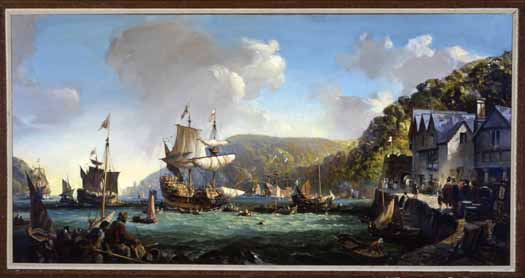 La Mayflower e la Speedwell nel porto di Dartmouth