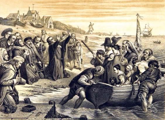 Mayflower-pilgrims-xVII-sec.