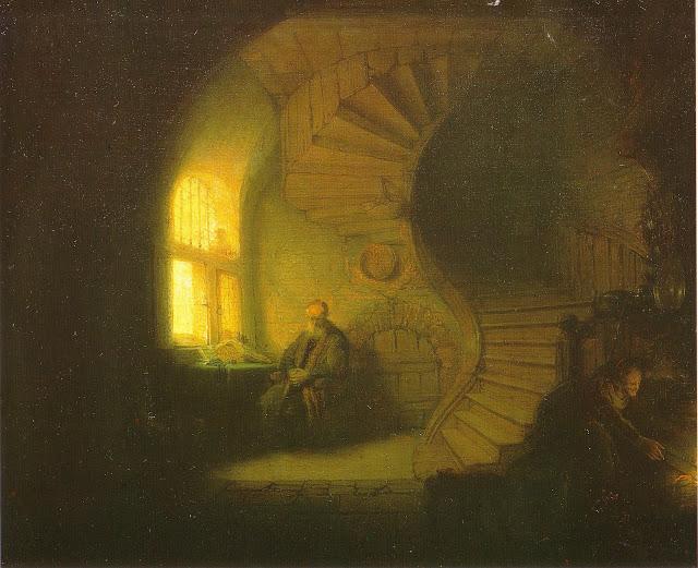 REMBRANDT - Filosofo in meditazione