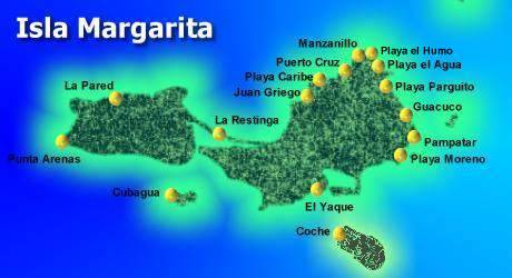 mapa-playas Margarita