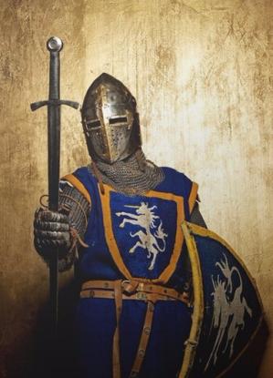 chevalier-medieval-sur-fond-dore